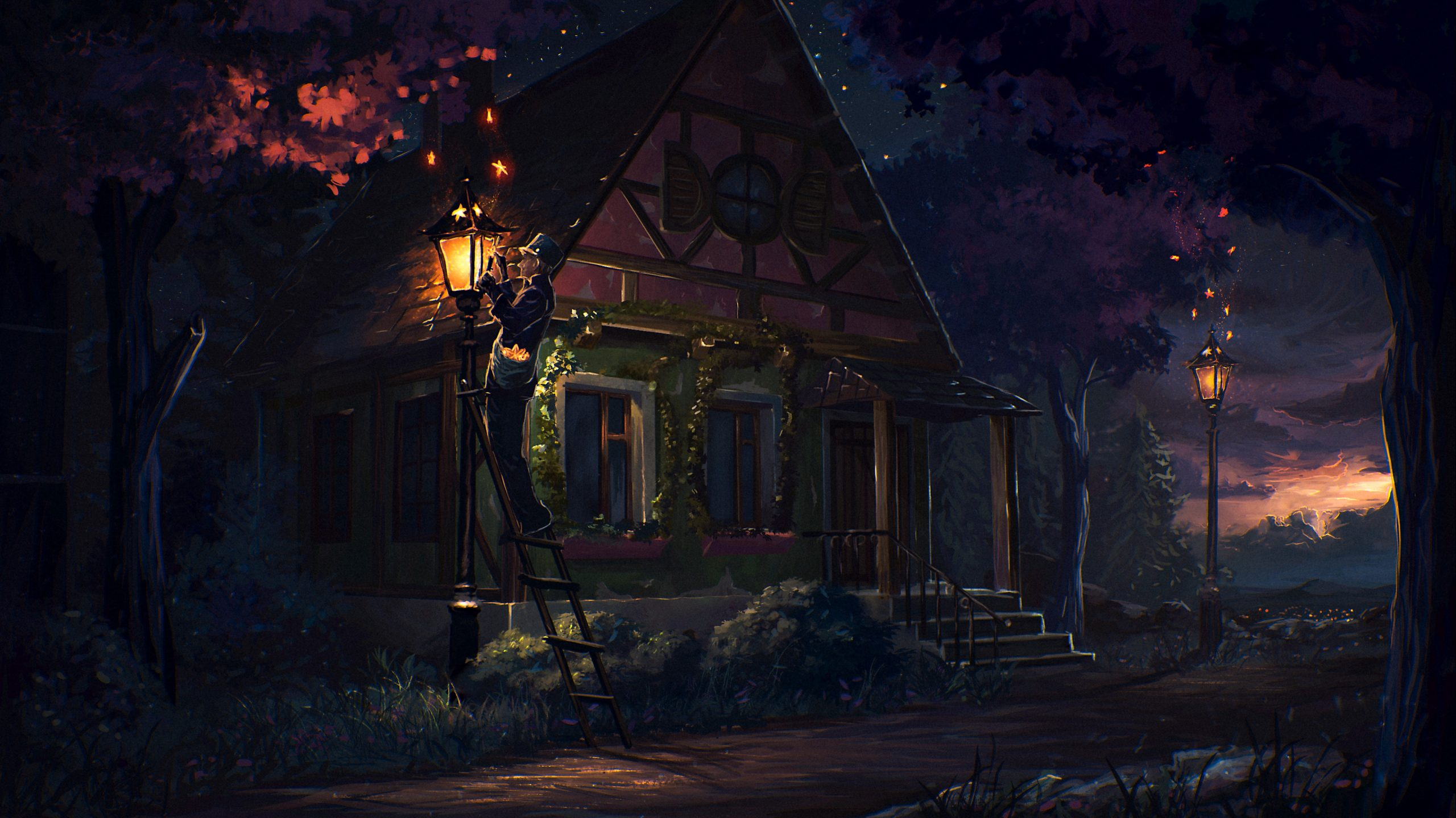 house_fairy_tale_art_light_night_101615_3840x2160